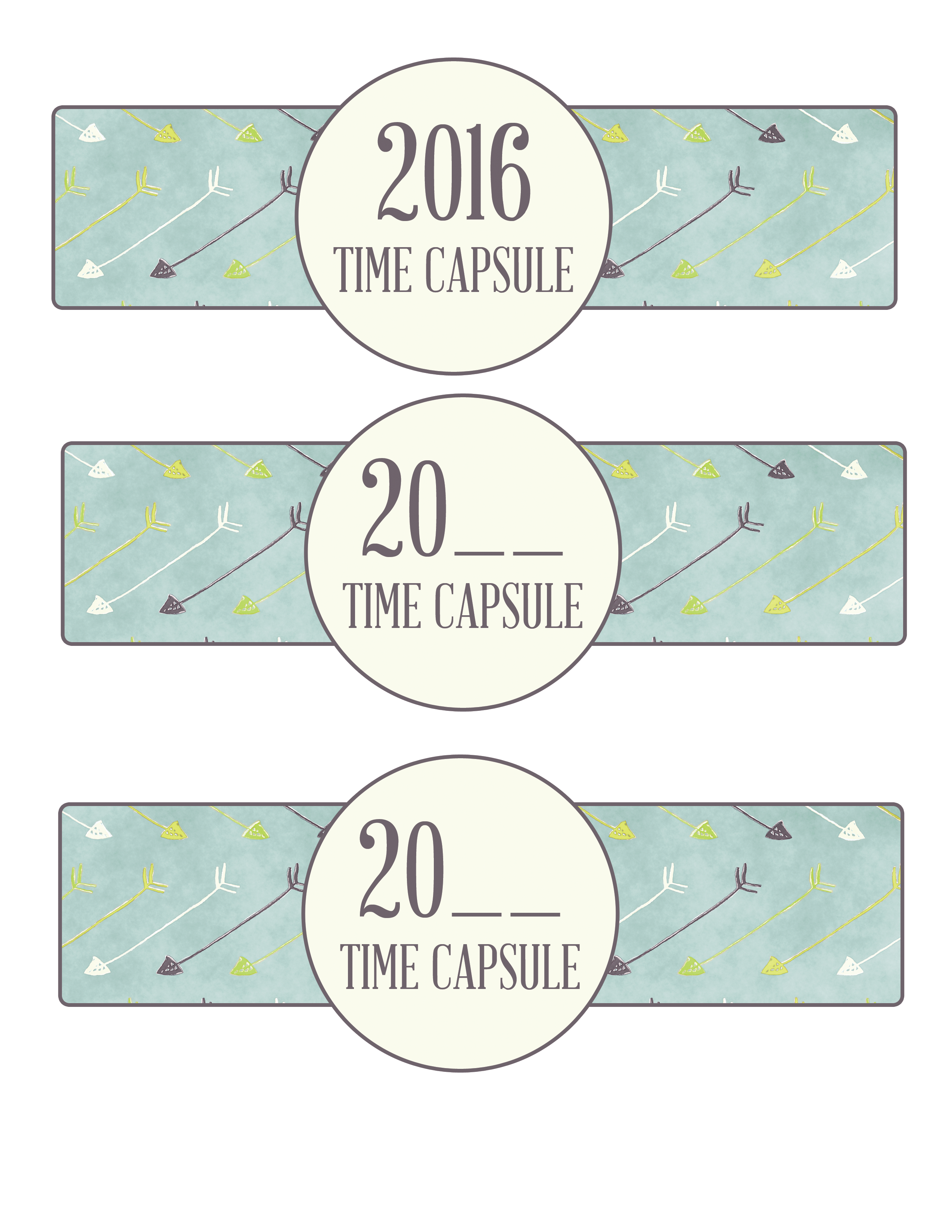 photograph regarding Time Capsule Printable referred to as 2016 Cost-free Season Capsule Printable + Reflection upon 2016